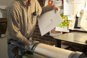 Letterpressing Amichai - Rick Black runs a print