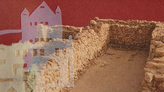 Part of a Jerusalem papercut by Debra Band - Amichai windows papercuts