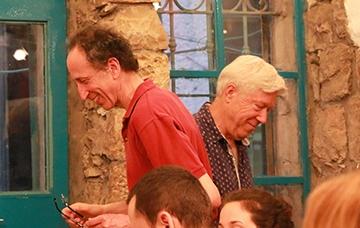 Rick and Ariel Hirschfeld sharing the podium