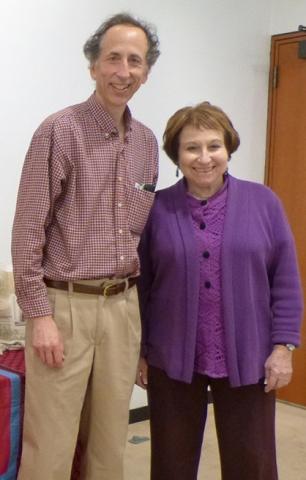 Rick Black and Nanette Stahl before the start of the program