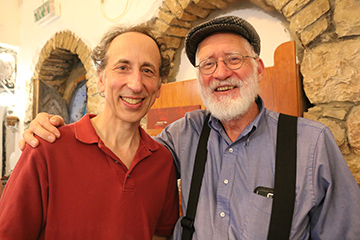 Rick Black with Yehuda Miklaf