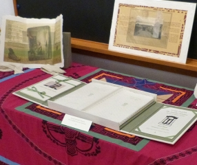"Display table with ""The Amichai Windows"""