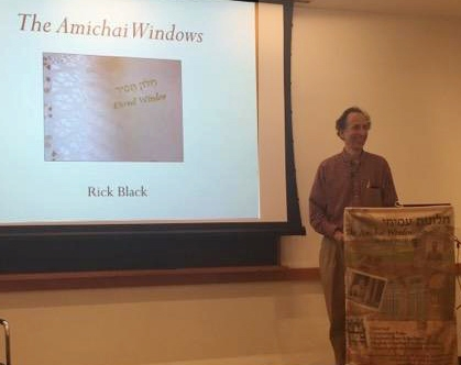RickBlack giving his slide show and talk.